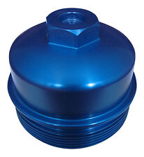 6.0L / 6.4L Powerstroke BLUE Billet Aluminum Oil Filter Cap with Test Port 03-10