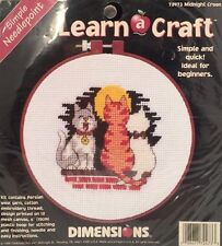 """New 1998 DIMENSIONS MIDNIGHT CROON SIMPLE NEEDLEPOINT """"LEARN A CRAFT"""" KIT #72473"""