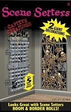 CAPTIVE CREATURES SKELETON GIANT SCENE SETTERS Halloween Wall Decoration 672126