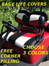 CLUB CAR DS +2000 GOLF CART CUSTOM SEAT COVERS FRONT SEAT STAPLE ON #64