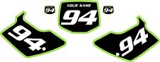 1994-1998 Kawasaki KX125 Pre-Printed Black Backgrounds with Green Bold Pinstripe