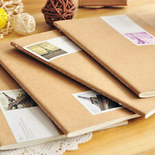 1x Kids Brown Case Notebook Diary Book Jotter School Office Notebook Stationery