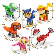 6Pcs/set Paw Patrol Action Pup Badge Shield Dog Backpack Projectile Toys Figure