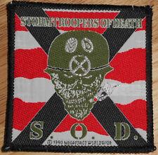 RARE VINTAGE S.O.D. PATCH!!! anthrax,m.o.d.,nuclear assault,sod,tape,lp,cd,shirt