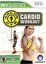 Gold's Gym Cardio Workout (Nintendo Wii Excerise Get Fit Dance Run) Brand NEW