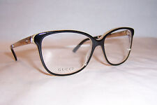 NEW GUCCI EYEGLASSES GG 3701 4WH BLACK GOLD 54mm RX AUTHENTIC