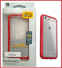 OtterBox SYMMETRY Hard Shell Snap Cover Case for iPhone 6 iPhone 6s (Clear/Red)