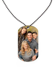 Personalised Metal Photo Dog Tag with Chain Dad Fathers Day Mum Grandad Gift