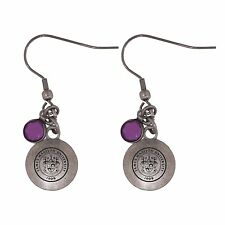 James Madison University-Frankie Tyler Charmed Earrings-Purple