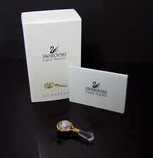 NEW Swarovski Crystal Memories Baby Boy Girl BABY'S RATTLE Gold Figurine 219199