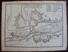 PLAN DE DINANT, ville eveche de LIEGE : gravure originale. (1693).