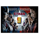 520; Personalised Birthday Card; ANY AGE, NAME; Avengers Civil War