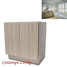 "36"" European Style Double Door Bathroom Vanity / Cabinet - Birch Wood Pattern"