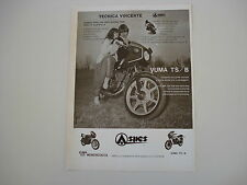 advertising Pubblicità 1981 MOTO ASPES JUMA YUMA 125 TS/B