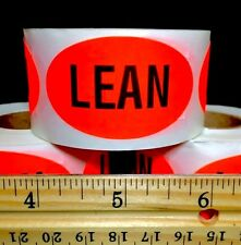 """3 NEW ROLLS OF BIG 2"""" LEAN MEAT PACKAGING DELI RETAIL STORES & RESTAURANT LABELS"""