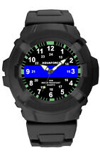 Thin Blue Line Police Watch Rubber Strap - 50M Water Resistant