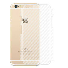 3D Full Cover Clear Carbon Fiber Back Film Protector Sticker for iPhone 6 7 Plus