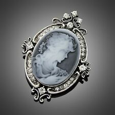 New Antique Silver Victorian Women lady Wedding Pageant Jewelry Brooch pin Gifts