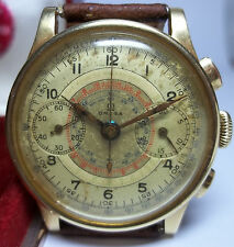 1939 GRAIL OMEGA 33.3 CHRO T1 CHRONOGRAPH 18K WATCH UNTOUCHED DOCTOR MULTI SCALE