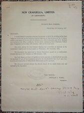 New Craigielea Ltd Singapore 1927 liquidation document - repaired fault Ӝ