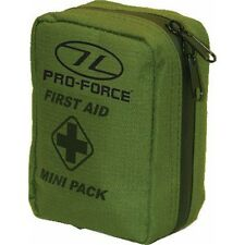 Mini Military First Aid Pack - Highlander Kit Emergency Olive Green Purse Cadet