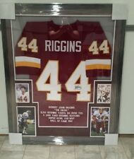 JOHN RIGGINS AUTOGRAPHED WASHINGTON REDSKINS FRAMED STAT JERSEY. COA  JSA !!