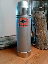 Vtg 70's Uno-Vac Unbreakable Stainless Steel Hot/Cold Thermos Union MFG. CO. USA
