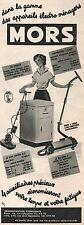 ▬► PUBLICITE ADVERTISING AD MORS Appareil ménager électoménager Aspirateur 1954
