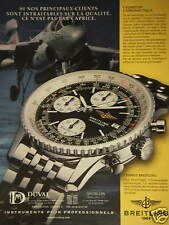 PUBLICITÉ PAPIER 1999 MONTRE BREITLING OLD NAVITIMER - ADVERTISING