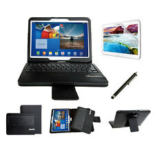 For Samsung Galaxy Tab 3 10.1 P5200 P5210 Bluetooth Keyboard Leather Case + Flim