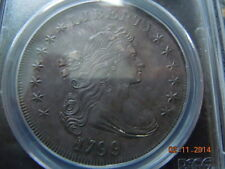 1799 DRAPED BUST DOLLAR, PCGS UNC DETAILS! SPECTACULAR COIN! HIGH MS DETAILS!