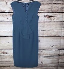 Nanette Lepore blue dress career work size 6(a22)