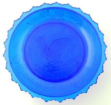 Pairpoint Blue Glass Cup Plate - Sammy Jay