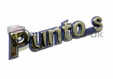 Brand new Original, genuine Fiat Mk1 Punto 'Punto S' badge 7734514