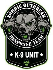 ZOMBIE OUTBREAK K9 UNIT LAPTOP STICKER TOOLBOX STICKER BUMPER STICKER