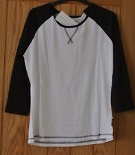 New Miss Fiori wms/teens 3/4 sleeve top White/Black 12