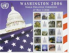 United Nations UN Personalized Sheet Stamp S13 New York 907b Wasington Expo 2006