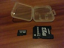 MICRO SD KARTE 1GB TRANSCEND +SD ADAPTER + CASE