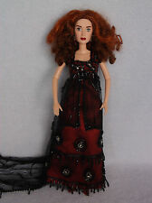 Beautiful Rose Doll from Titanic, Barbie Size, Red and Blace Lace Dress