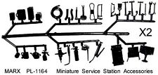 Marx reissue gas service station small sprue accessories x 60