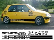 PEUGEOT PUG 106 KIT x14pc GRAPHICS STICKERS 106 107 205 206 306 307 308 406