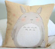 Totoro Cushion Cover Japanese Anime Ghibli BRAND NEW Cotton Linen AU SELLER