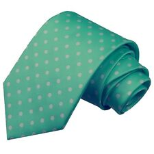 SALE! Mens Cardinale Firenze Polka Dot 100% Italian Silk Necktie Tie Sea Green