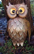 Feathered Owl Metal Small Garden Ornament Vivid Arts £14.99