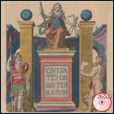Civitates Orbis Terrarum - Georg Braun - Color Plates - Maps - Vols 1-2 5-6 DVD