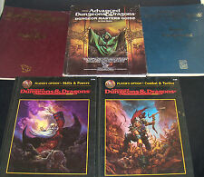 5 Pc Lot Advanced Dungeons & Dragons AD&D Dungeon Masters Guide Skills Powers