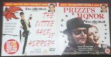 DVD x2 - PRIZZI'S HONOR / THE LITTLE SHOP OF HORRORS - JACK NICHOLSON NEWSPAPER