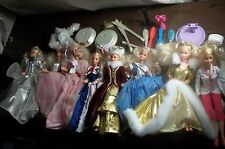 8 Special Edition BARBIE Dolls Lot Christmas happy birthday Beautiful Gowns