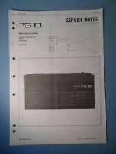 Original ROLAND Service Notes- PG-10 Linear Synthesizer Programmer