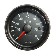 "VDO Cockpit International Tachometer Gauge 8000 RPM 52mm 2"" 12V 333-035-018G"